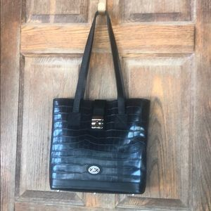 Vintage Black Croc Dooney & Bourke Handbag